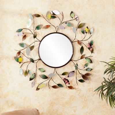 Decorative Metallic Leaf Wall Mirror