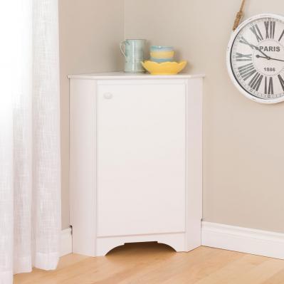 Elite Corner Storage Cabinet, White