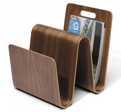 W Magazine Stand - Walnut