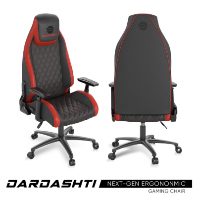 Atlantic Dardashti Gaming Chair - Commercial Grade, Ergonomic, Ruby Red
