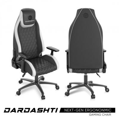 Atlantic Dardashti Gaming Chair - Commercial Grade, Ergonomic , Arctic White