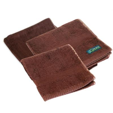Bamboo Towel Set, Chocolate