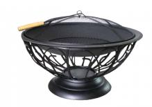 Urn Firepit, 30 inch SS Bowl & Pewter Base