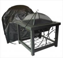 High Square Outdoor Fire Pit Table Cover
