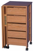 Hideaway Mobile Desk oak