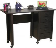Mobile Desk & Craft Table  black