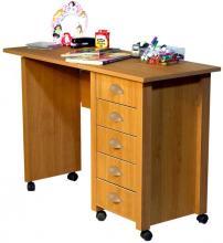 Mobile Desk & Craft Table  oak