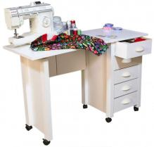 Mobile Desk & Craft Table  white