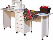 Double Mobile Desk & Craft Table Desk white