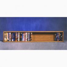 Solid Oak Wall Or Shelf Mount DVD/Vhs Tape/Book Cabinet