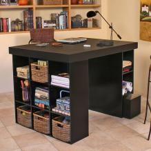 Project Center With 1 Bookcase & 3 Bin Cabinet