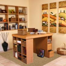 Project Center With Bookcase & 3 Bin Cabinet oak