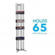 Atlantic Onyx DVD Tower 65 Matte Black Steel
