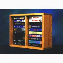 Solid Oak desktop or shelf DVD Cabinet (Individual Locking Slots)
