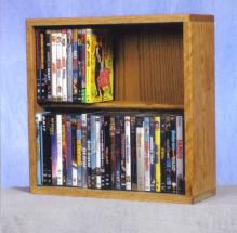 Solid Oak 2 Row Dowel DVD Cabinet Tower