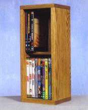 Solid Oak 2 Row Dowel DVD Cabinet Tower