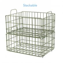 Atlantic Cart System Basket Wire Green