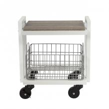 Atlantic Cart System 2 Tier Narrow White