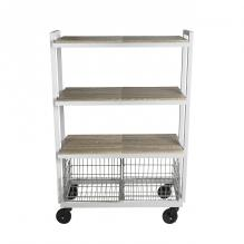 Atlantic Cart System 4 Tier Wide White