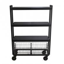 Atlantic Cart System 4 Tier Wide Black