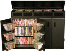 Top Load Media Cabinet black