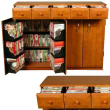 Media Cabinet with Drawers cherry