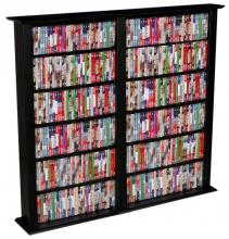 Media Storage Tower-Regular Double black