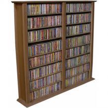 Media Storage Tower-Regular Double walnut