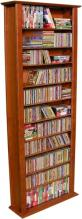 Media Storage Tower-Tall Single cherry