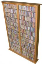 Media Storage Tower-Tall Double oak