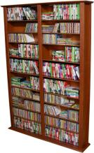 Media Storage Tower-Tall Double cherry