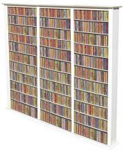 Media Storage Tower-Tall Triple white