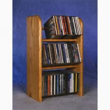 Solid Oak 3 Row Dowel CD Rack