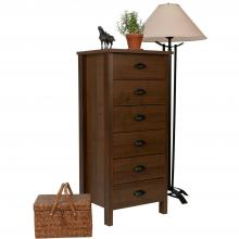 6 Drawer Nouvelle Lingerie Bureau walnut