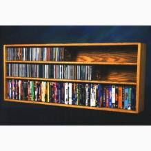 Solid Oak Wall or Shelf Mount for CD and DVD/VHS tape/Book Cabinet
