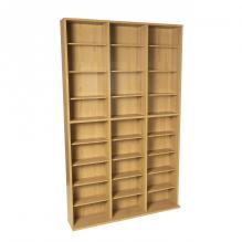 Oskar Media Tower Wood Cabinet, Maple