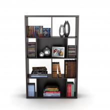 Monaco Book / Display Case In Espresso