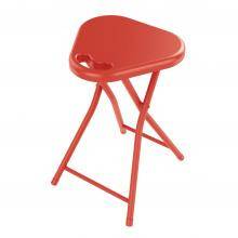 Folding Stool W/ Handle (4 Pack) In Tangerine Tango