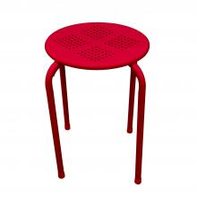 Side Table/ Stool In Red - Set Of 2