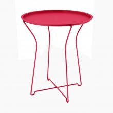 Metal Side Table, Red