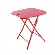 Folding Table With Handle In Red
