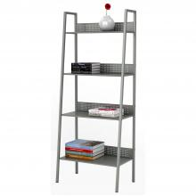 4 Tier Angled Ladder Shelving In Solid Moon Mist