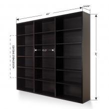 Atlantic Oskar 540 Wall Mounted Media Storage Cabinet Espresso