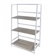 Atlantic 3 Tier Folding Bookshelf White