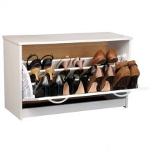 Single Shoe Cabinet white