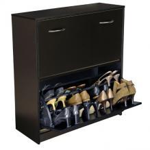 Double Shoe Cabinet black