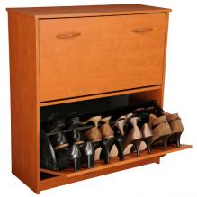 Double Shoe Cabinet cherry