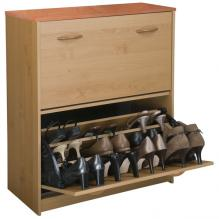 Double Shoe Cabinet oak