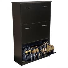Triple Shoe Cabinet black