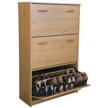 Triple Shoe Cabinet  oak